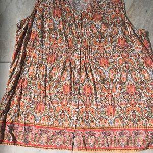 JJill summer cotton neck sleeveless blouse